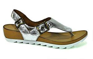 Páskové sandálky Bueno E601 na platformě, stříbrné