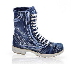 Riflové kotníkové boty 4201 na šněrování