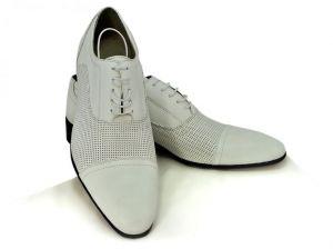 """Zvětšit fotografii - Bílé panské boty 3850 s perforací ,, dírkování """""""