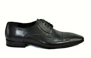 Elegantní panské boty Savana 3268, matná kůže černá