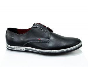 Kožená pánská obuv Lavaggio 017 moderní klasika, černá