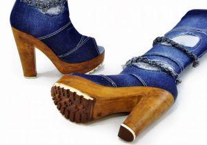 "kožená a atestovaná obuv Riflové kozačky 3860 s vykrojenou špičkou ,,peep toe"" Janet"