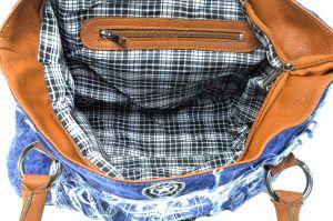 """kožená a atestovaná obuv Kabelka Jeans 8031 šití ,, rifle """" s delším uchem Facebag"""