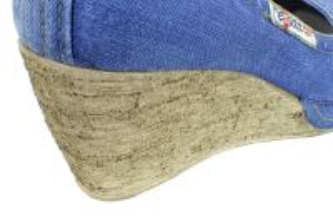 kožená a atestovaná obuv Riflové lodičky na klínu 500-69 Ersax