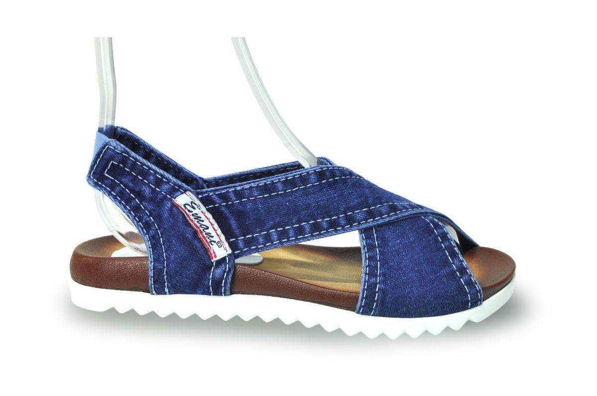 ff62d3729b5d kožená a atestovaná obuv Riflové páskové sandálky Emani 18.12.55 na  platformě
