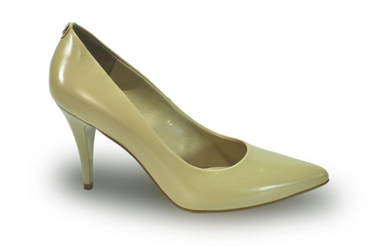 kožená a atestovaná obuv Lakované lodičky Saly 1535 na jehlové podpatku SALA d04e5e4243