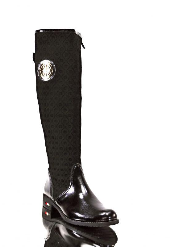 36d40397024 kožená a atestovaná obuv Zimní luxusní kozačky s perforací Z-91 černé  Roberto