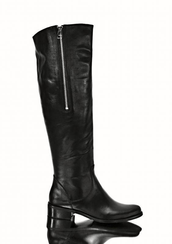 kožená a atestovaná obuv Luxusní kožené dámské kozačky 470 Alextom