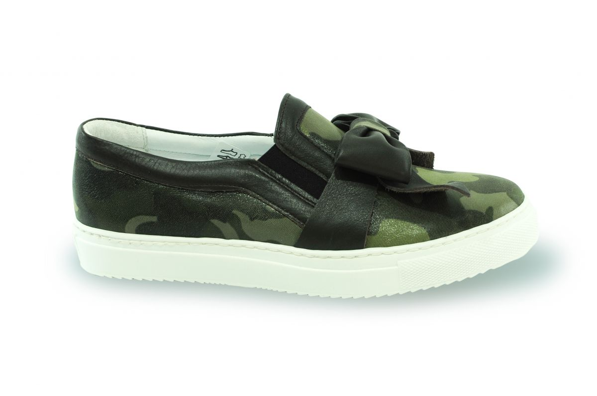 kožená a atestovaná obuv Kožené tenisky CheBello 239 army