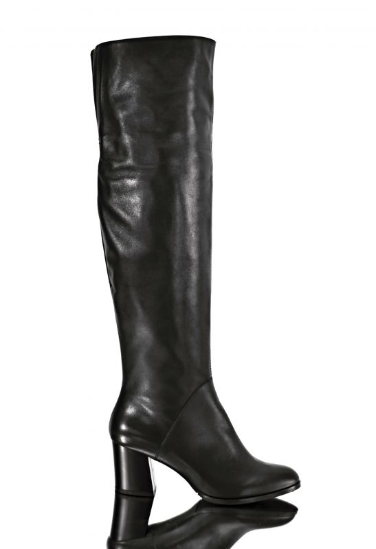 kožená a atestovaná obuv Luxusní zimní kozačky Marcella 4034 nadkolenní