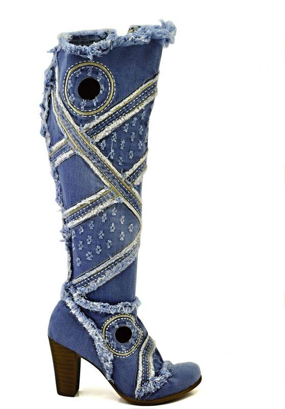 kožená a atestovaná obuv Riflové kozačky 4028 se zipem Starbluemoon