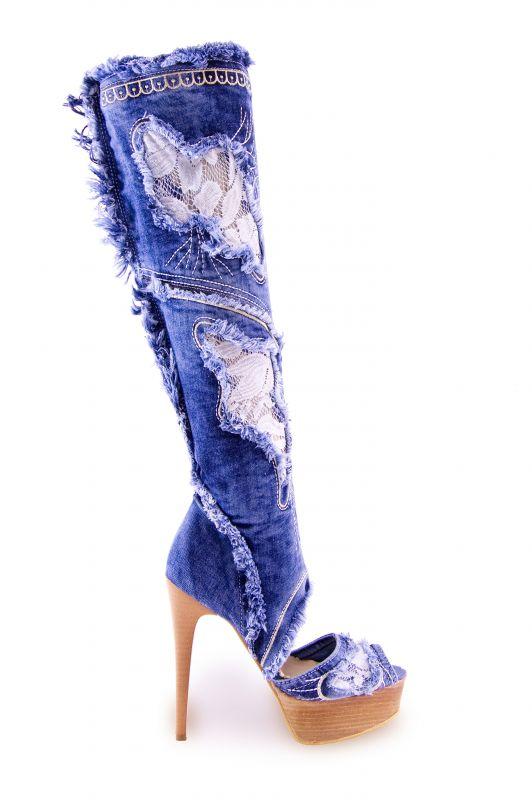 kožená a atestovaná obuv Riflové kozačky 4044 B Starbluemoon