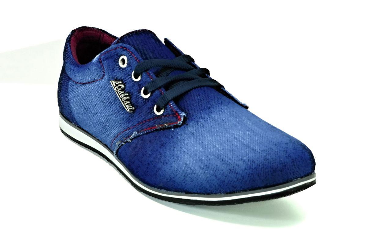 kožená a atestovaná obuv Riflové pánské tenisky 616 Calsido