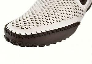 kožená a atestovaná obuv Panské kožené mokasíny 8062 Bílohnědé kombinací Thunderhead