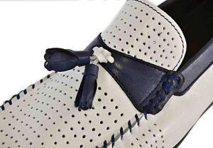 kožená a atestovaná obuv Panské kožené mokasíny K-14200 s dvojbarevnou kombinací Thunderhead