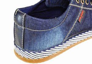 kožená a atestovaná obuv Pánské riflové tenisky Calsido 2002 na šněrování