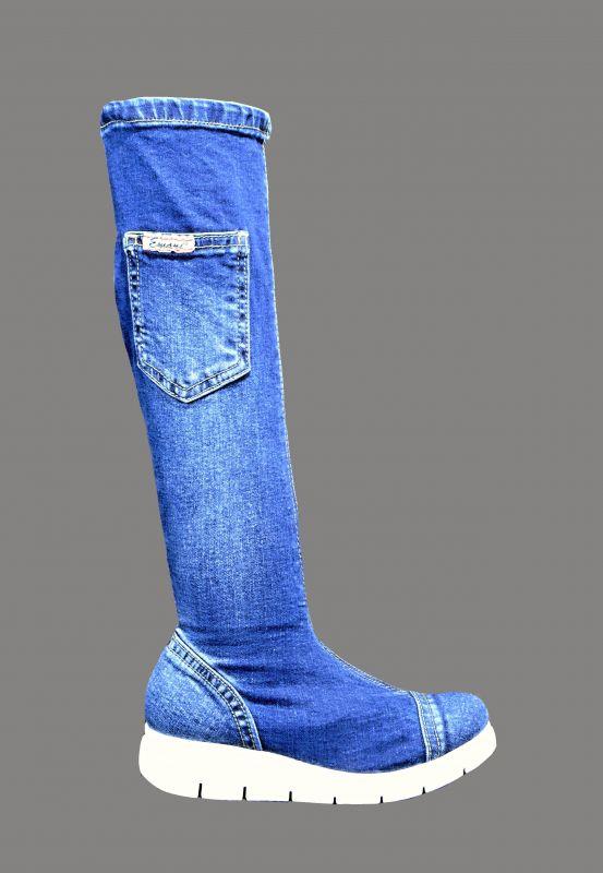 kožená a atestovaná obuv Riflové kozačky Emani 060.09 na platformě