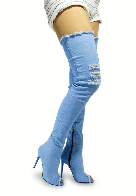 kožená a atestovaná obuv Riflové kozačky SEINA Starbluemoon