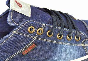 kožená a atestovaná obuv Riflové pánské tenisky 2001 Calsido
