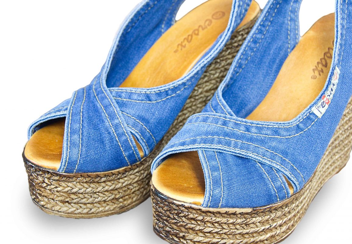 c6903e51bb68 kožená a atestovaná obuv Riflové páskové sandálky Ersax 1058.B4 s otevřenou  špičkou na klínu