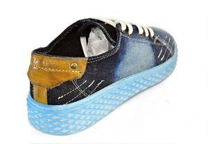 kožená a atestovaná obuv Riflové tenisky 216B BlueSky se šněrováním Marcella