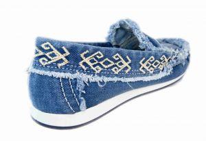 kožená a atestovaná obuv Riflové mokasiny 4071 Starbluemoon