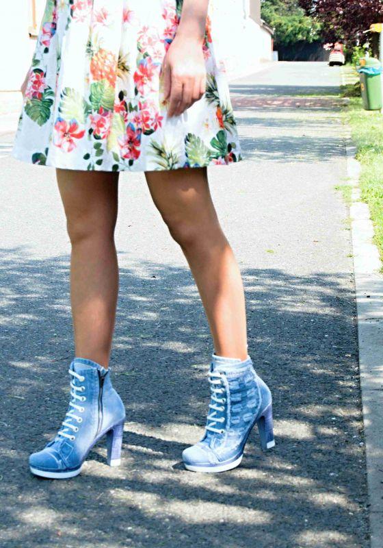 kožená a atestovaná obuv Riflové kotníkové botky 2024 Starbluemoon