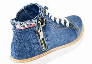 kožená a atestovaná obuv Riflové kotníkové boty 205.09.2330 na platformě Emani
