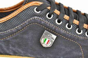 kožená a atestovaná obuv Riflové pánské tenisky 987 Calsido
