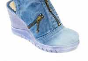 kožená a atestovaná obuv Riflové sandale Star-Bluemoon 930 na platformě Starbluemoon