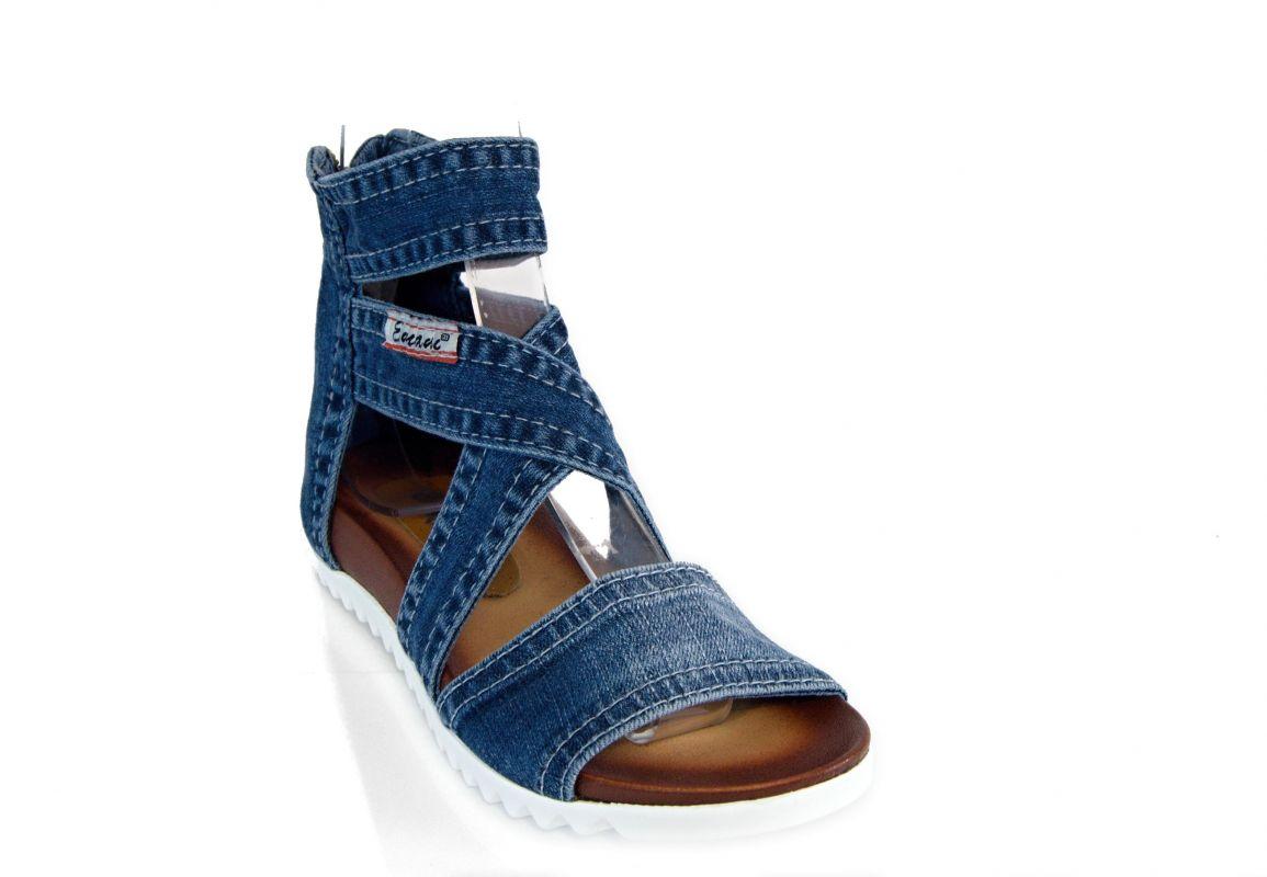 kožená a atestovaná obuv Riflové sandálky SANDRA II s otevřenou špičkou Emani