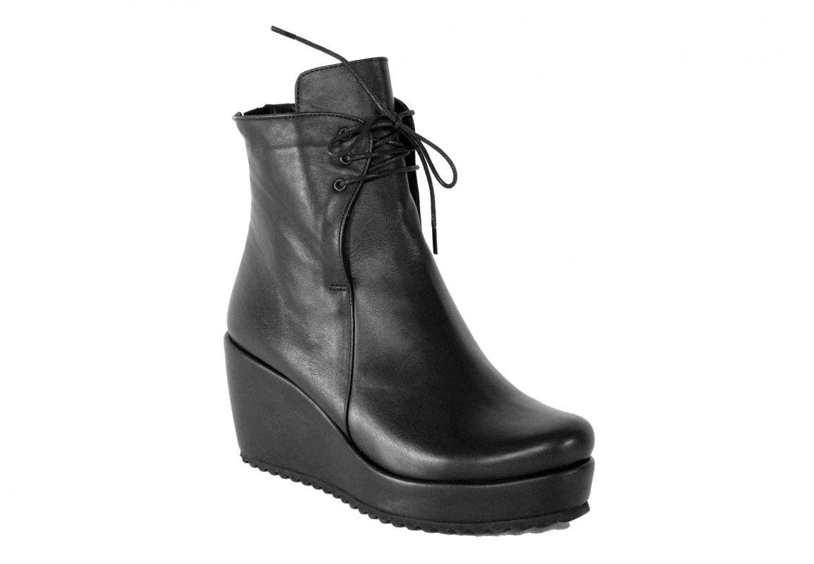 """kožená a atestovaná obuv Zimní kotníčkové boty na klínku """"BUENO """" 301 - dvojí zapínání"""