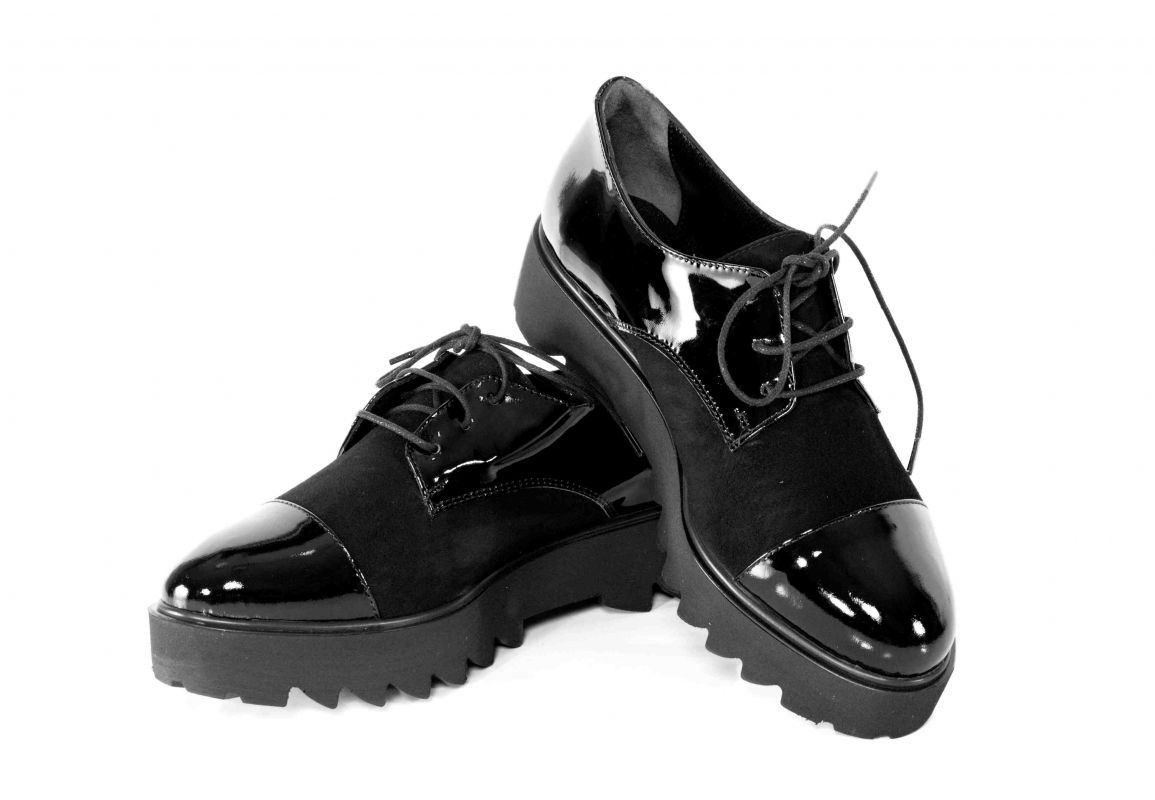 kožená a atestovaná obuv Kožená botky na platformě Maria Josephin