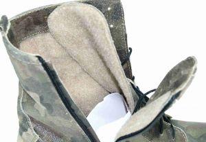 """kožená a atestovaná obuv Kožené zimní kotníkové boty Army """"203"""", dvojí zapínání Exquisite"""