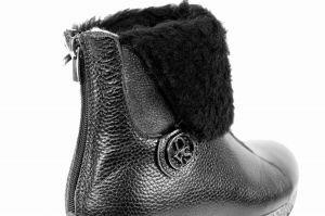 """kožená a atestovaná obuv Zimní kožené kotníkové boty """"DESSY"""" 0215,"""