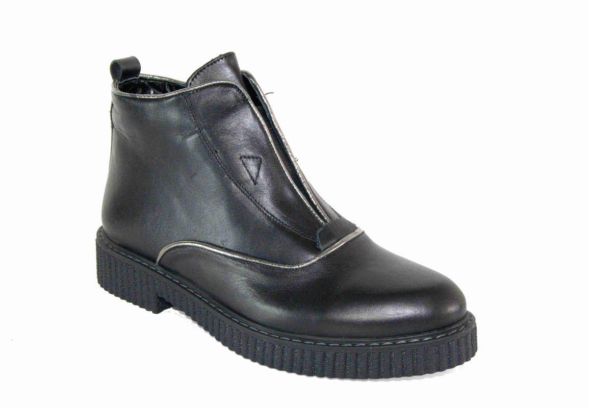 kožená a atestovaná obuv Kotníková obuv s elastickým prvkem Di Lusso Italy