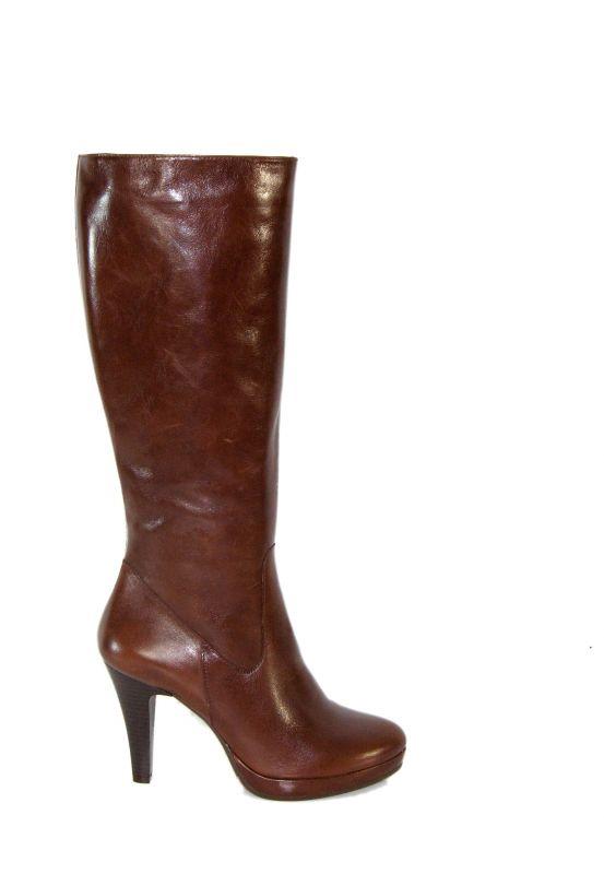 kožená a atestovaná obuv Luxusní kozačky na podpatku il momento Di Lusso Italy