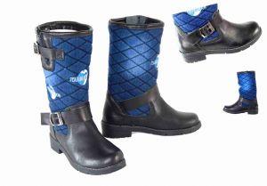 kožená a atestovaná obuv Riflové sportovně laděné kozačky 555 Starbluemoon