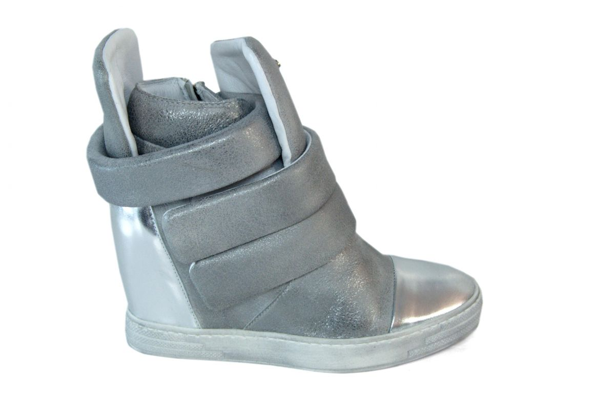 kožená a atestovaná obuv Kožené kotníčkové boty B.3493 na skrytém klínku CARINII
