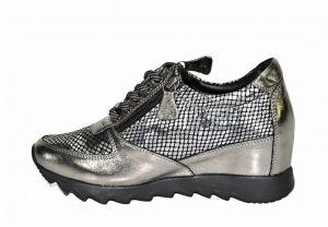kožená a atestovaná obuv Sneakersy Alpino platina 0387 na klínku