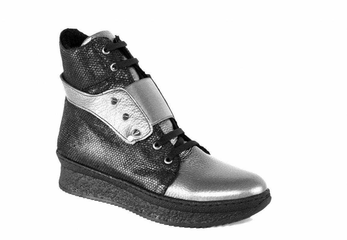"""kožená a atestovaná obuv Zimní kotníkové boty """"Sneakersy"""" Liva 1003"""