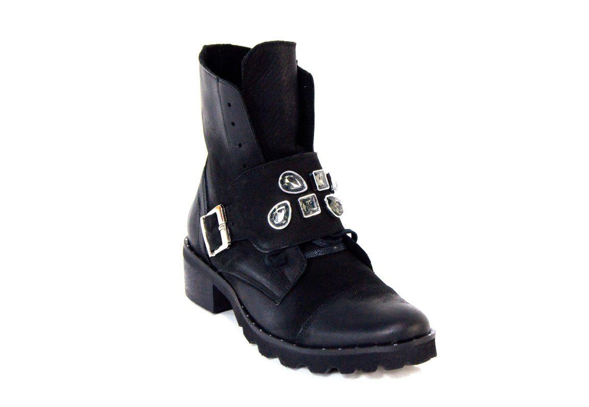 """kožená a atestovaná obuv Zimní kotníkové boty """"Exquisite"""" 1004 s dvojím zapínáním Exquisite E"""