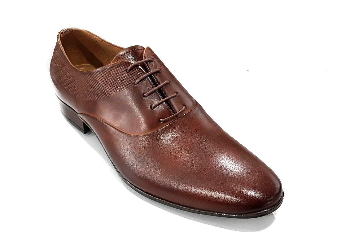 kožená a atestovaná obuv Kožená pánská obuv Lavaggio 1606, hnědá