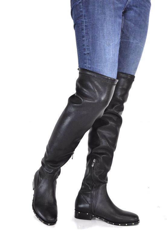 d42c9888131 kožená a atestovaná obuv Luxusní vysoký kozačky 18571 s vázáním CRUX