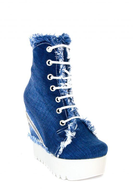 kožená a atestovaná obuv Originální kotníčkové boty na klínku s platformou Starbluemoon