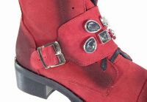 kožená a atestovaná obuv Zimní kotníkové boty Luxurious 1004, červené Alpino