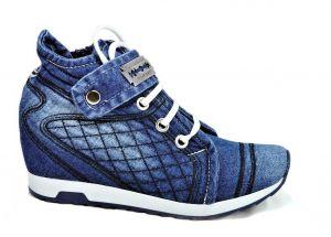 kožená a atestovaná obuv SET-Luxusní riflové botky+kabelka 3056 Starbluemoon