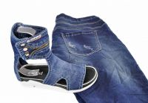 """kožená a atestovaná obuv Kotníkové luxusní boty -Jeans """"EMANI"""" 09-262-73 s dekorativní šňůrou"""