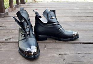 """kožená a atestovaná obuv Luxusní kožené kotníčkové boty """"Marcella"""" 713"""