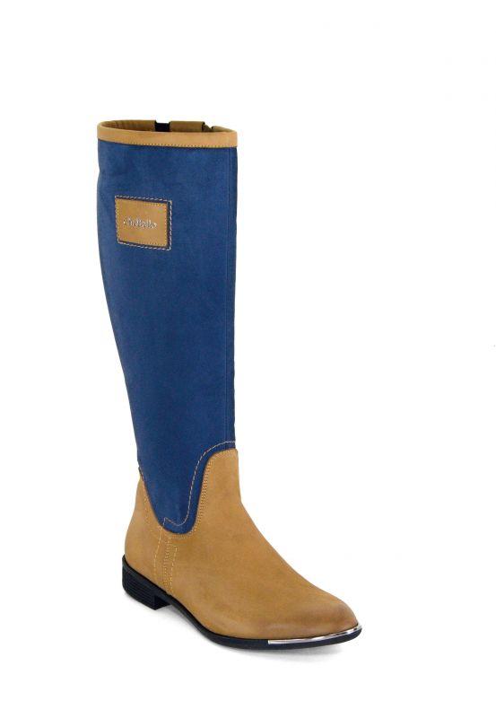 """kožená a atestovaná obuv Luxusní dámské zimní kozačky """"CheBello"""" 2108 modro okrové"""